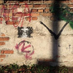 A Legia crest converted into an Antifascist Circle.