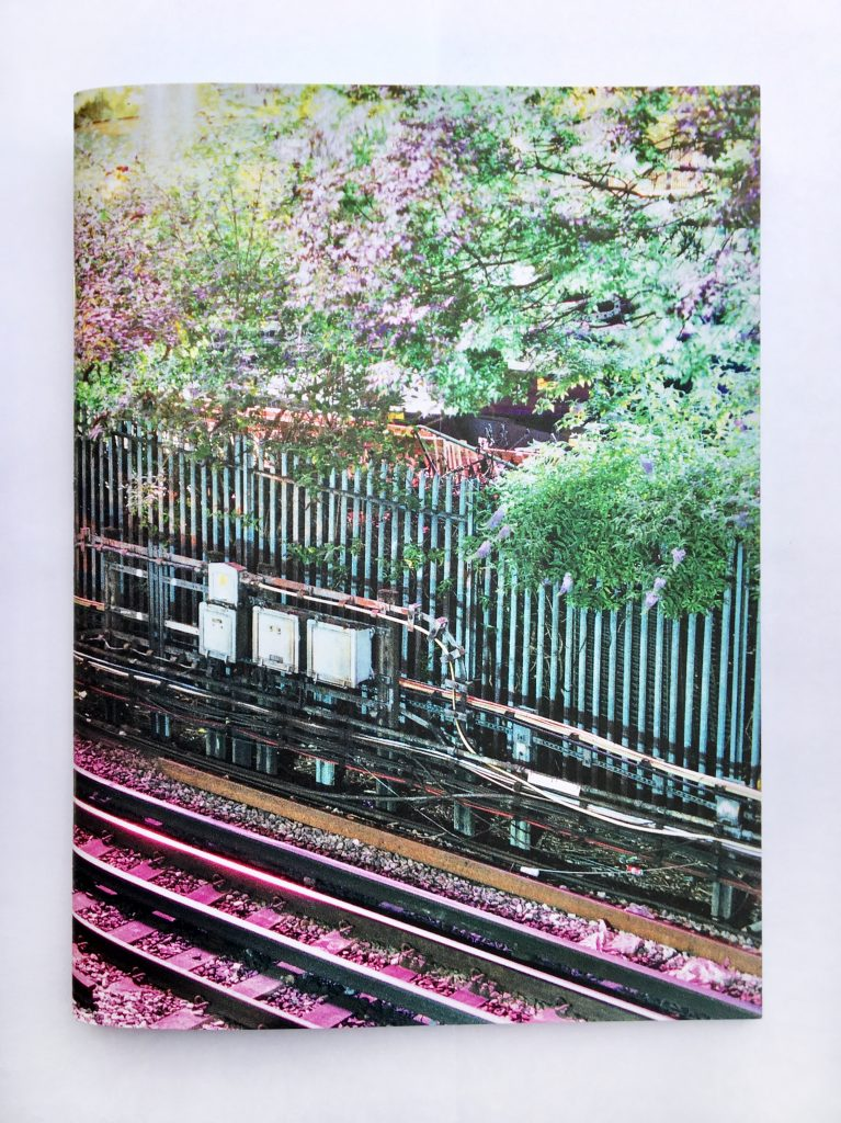 Front cover of The London Line zine.