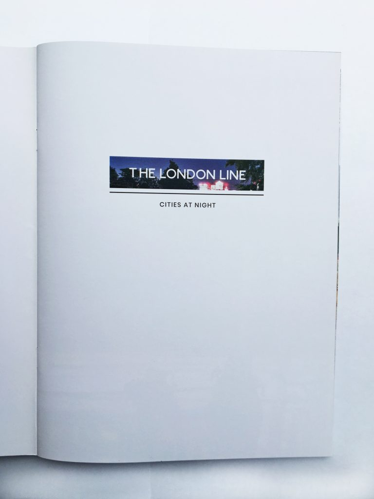 The London Line title page.